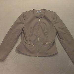 Calvin Klein Tan Suit Jacket size 10